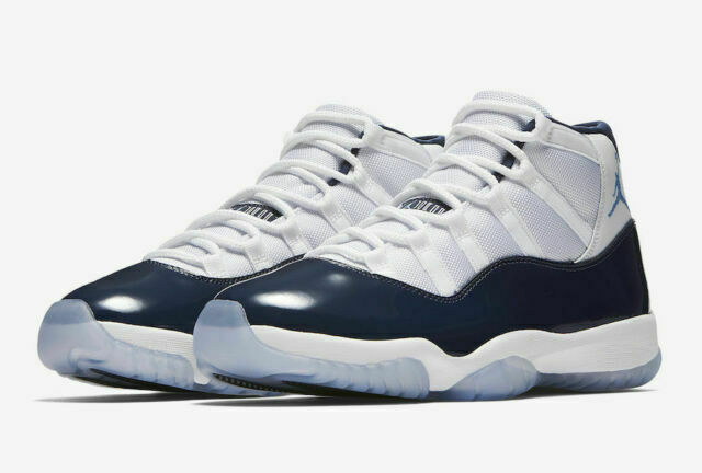 Nike Air Jordan 11 Retro Win Like '82 Shoes for Men , Size 12 - Midnight Navy University Blue