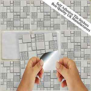 Image Is Loading Silver Grey Tile Stickers Transfers Kitchen Bathroom Tiles  Part 88