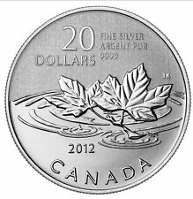 Canada 2012 Farewell to the Penny $20 Pure Silver Maple Leaf Leaves FULL OGP!