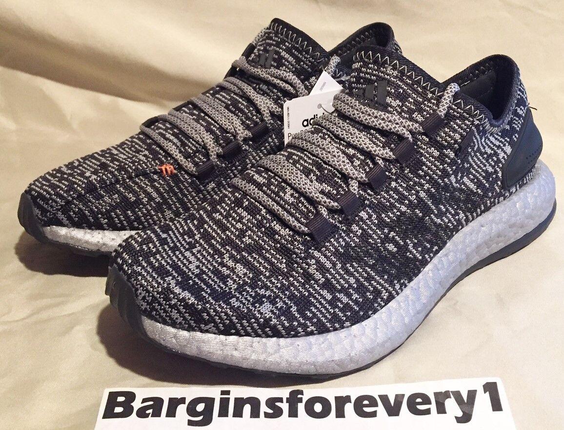 New Men's Adidas PureBOOST LTD - Size 8.5 - Grey/Black/Silver - S80701 - Limited