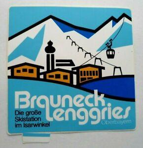 Souvenir-Aufkleber Brauneck Lenggries Isarwinkel Oberbyern Alps Bad Tölz 80er
