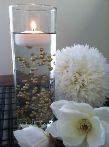 Decorative Champagne Pearls Vase Fillers Floating Pearl Centerpiece Confetti Ebay