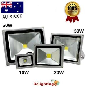 Waterproof Led Flood Light Exterior Lighting Reflector Spotlight Outdoor Garden Ebay