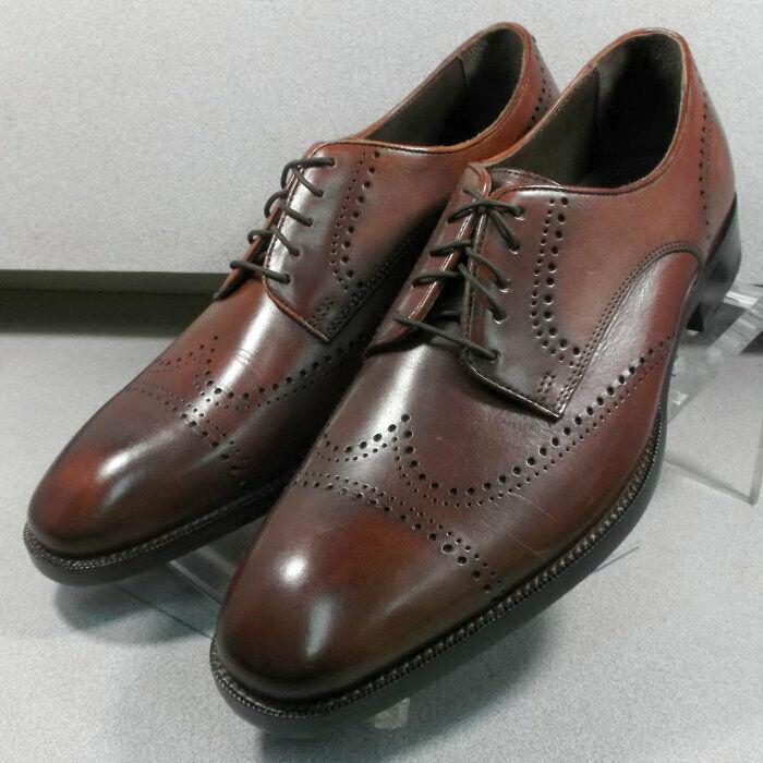 153914 ES50 Men's shoes Size 8 M Brown Leather Lace Up Johnston & Murphy