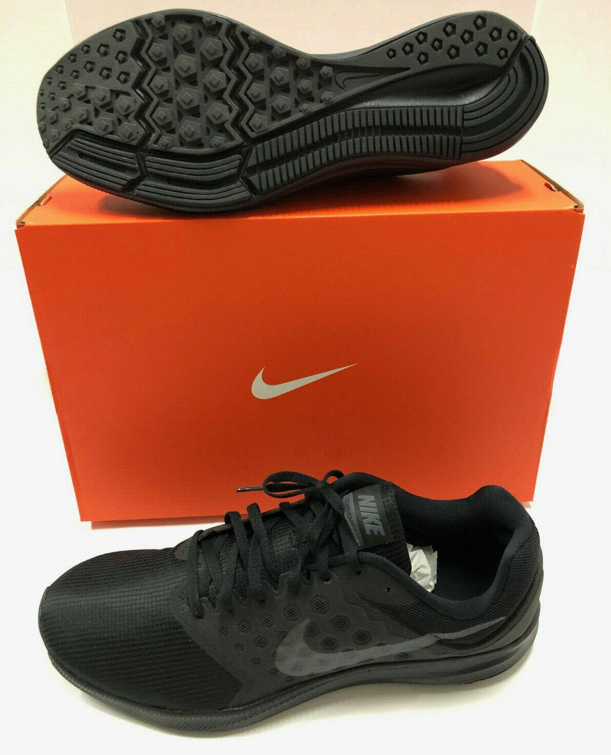 Nib Mens Nike Downshifter 7 Black Silver Mesh Running shoes 13