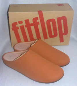 4ac127f99ff2 Fitflop Chrissie Tumbled Tan Brown PU Slip On Mule Ladies Clog ...
