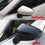 2Pcs For Mazda 3 Axela 2014 2015 2016 Carbon Fiber Rearview Mirror Cover Trim y