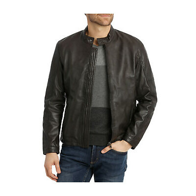 NEW Reserve Castle Mountain Leather Jacket Chocolate