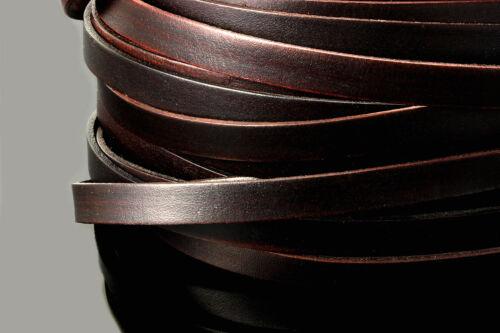 LB-45 INWARIA Lederband flach 3//5//8//10 mm 1 m Qualität Lederriemen Rindsleder