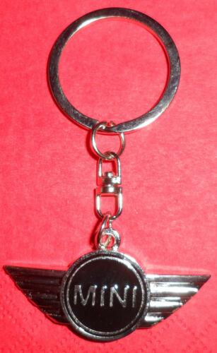 Metall MINI mit Ring Chrom Schwarz Auto Tuning Schlüsselanhänger
