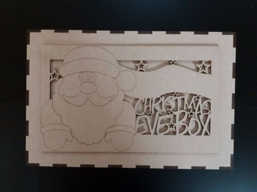 Mdf Christmas Eve Box 29.5cm x 19.5cm x 15.5cm /& Topper to Personalise Yourself