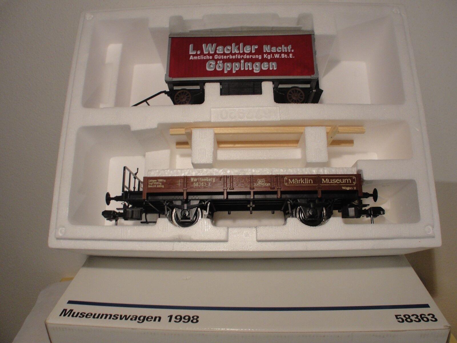 Märklin 58363 Spur I Musumswagen 1998 NiederBordWagen + LKW Anhänger, NEU, OK