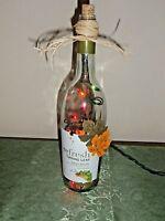 Wine Bottle Light / Nightlight - Refresh Turning Leaf With Multi Lights