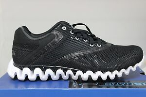 Women s Reebok Zignano Zigglam Black Gravel White Sport Sneakers 2 ... 50c9a6f13