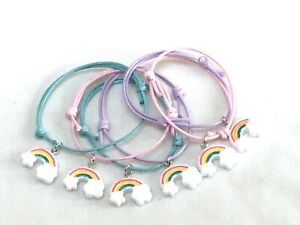 6 RAINBOW FRIENDSHIP BRACELETS NHS THANK YOU GAY PRIDE PARTY BAG GIFT FAVOURS