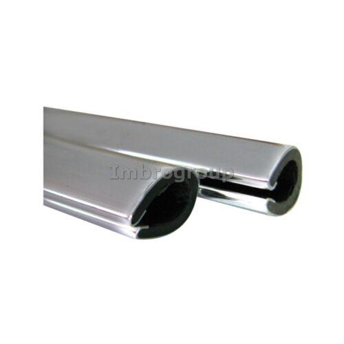 Coppia Salvaporta protezione portiera Scroll Gomma CROMATO Universale 65cm BBROS