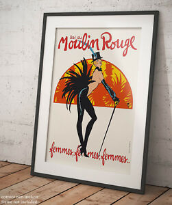 Art Print Poster Canvas Moulin Rouge poster 1934