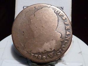 CAR4-41-LOUIS-XVI-2-SOLS-AU-FAISCEAU-1792-W-RARE-POIDS-LEGER-15-50gr
