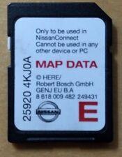 NISSAN connect  SAT NAV  SD CARD  25920 2017 MAPS qashqai not micra xtrail juke