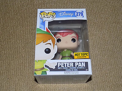 Vinyl Figure Disney #279 Peter Pan Hot Topic Exclusive Funko Pop