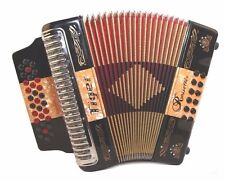 Rossetti 3112 TIGER GCF Sol 31 Button 12 Bass Diatonic Accordion BLACK + ORANGE