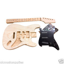 Coban DIY Electric ST Guitar Kit HY 280 Solid Ash Body Black fitting H6