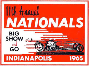 11TH-ANNUAL-NHRA-NATIONALS-INDIANAPOLIS-1965-DRAG-RACE-HOT-ROD-DECAL-STICKER