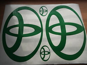 TOYOTA logo  large sticker    X4 PIECE