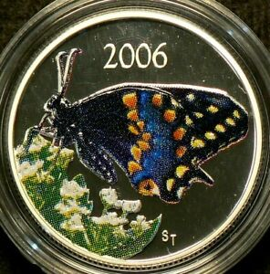 2006-Canada-50-Cents-Short-Tailed-Swallowtail-Butterfly-Silver-with-CoA-4916