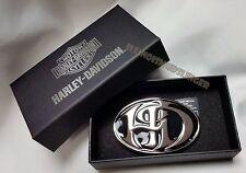 Harley-Davidson Belt Buckle H-D Antique Nickel & Black Enamel by LODIS womens