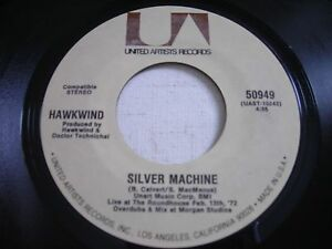 Hawkwind-Silver-Machine-Seven-by-Seven-1969-45rpm-VG-PSYCH