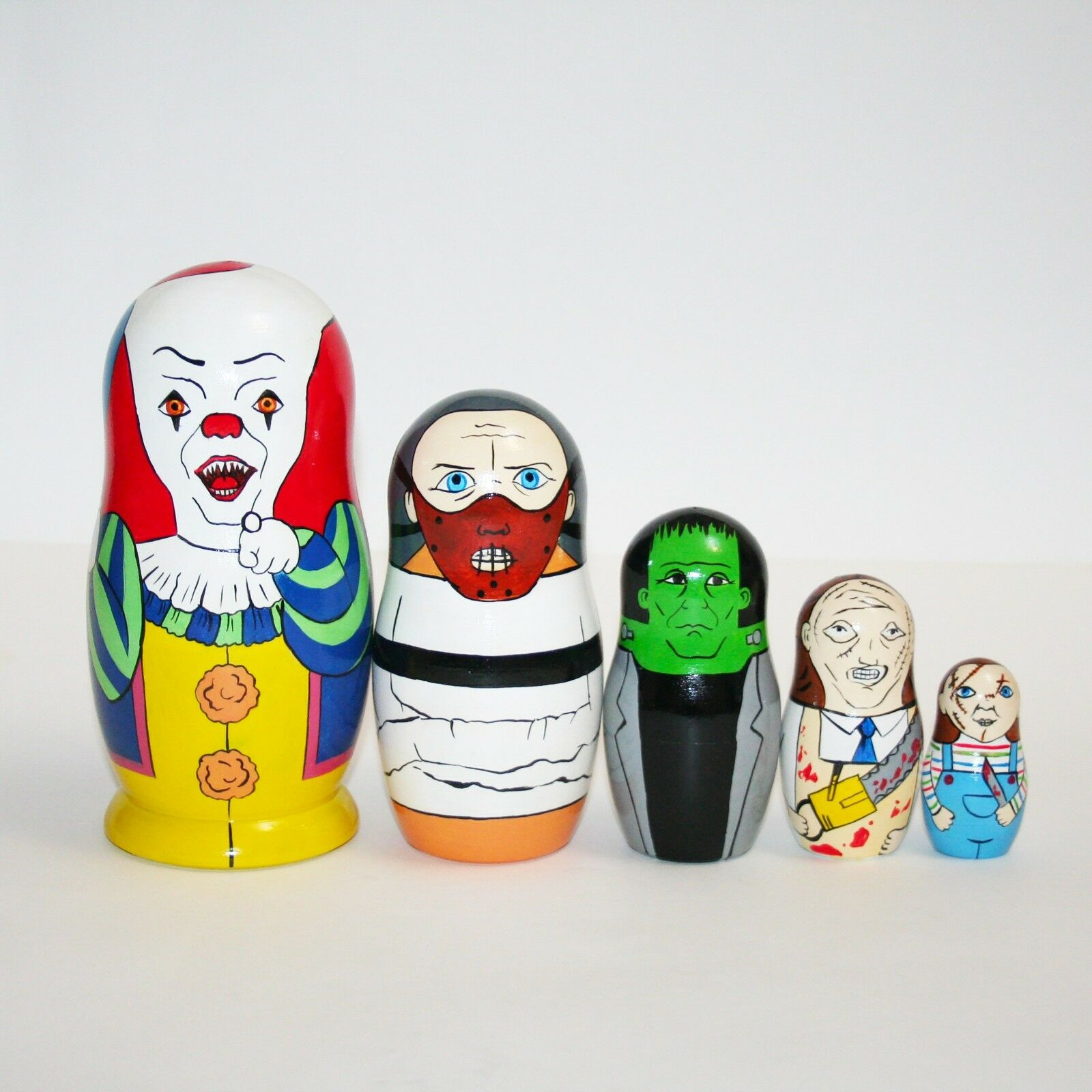 Poupées Russes film d'horreur villains Poupée Russe Matriochka Peinte à la main signé
