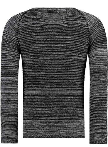 Black Rock Men/'s Jumper Slim Fit Knit Top Long Sleeve Black//White Sizes S XXL