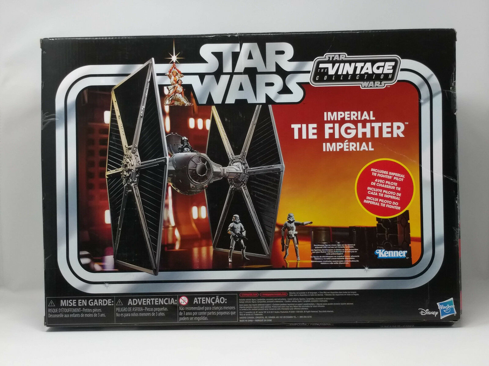 Star Wars Vintage Collection Imperial Tie Fighter and Pilot Exclusive Retro