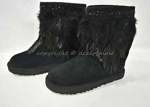 84d69b0a2be Details about NEW UGG Classic Short Peacock Boots with Feathers/Swarovski  Crystals US Size 7 M