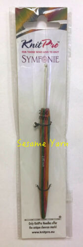 KnitPro Aluminium Crochet Hook with Symfonie Wood Handle