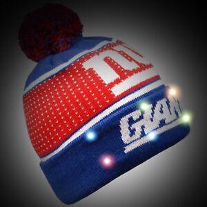 9d16d943f4a New York Giants Big Logo Light Up Beanie Winter Hat Toque Cuffed Pom ...