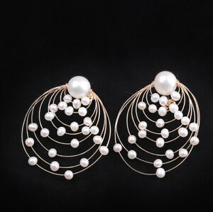 A03-Earring-Elegant-Circle-out-Gold-Plated-Sterling-Silver-with-Barockperlen