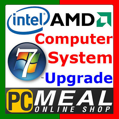 PCMeal Computer System OS Upgrade Windows 7 Home Premium 64bit Operation System