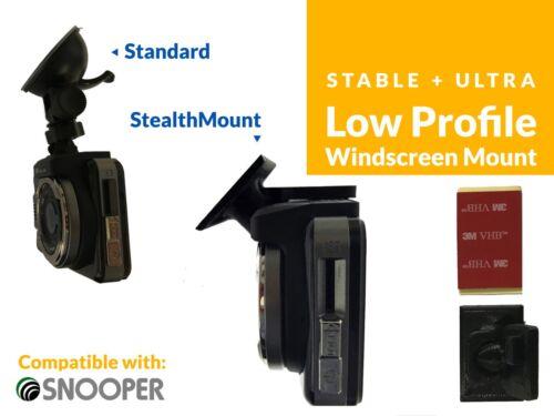 Stealthmounts bajo perfil Parabrisas Montaje Para Snooper Dvr 4HD Cámara en Tablero Dashcam