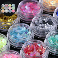 12Colors Ice Shell Foil Paper Glitter Mylar Acrylic Manicure Nail Art Decoration