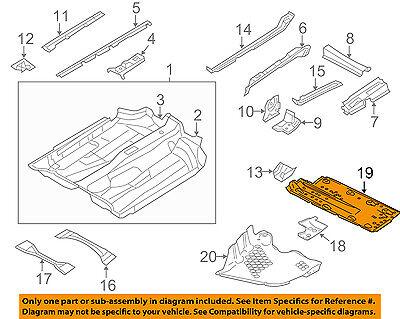VW VOLKSWAGEN OEM 05-14 Jetta Floor Rails-Underbody Shield Left 1K0825201AE