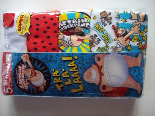 Captain Underpants Underwear Boys 5 Brief Pk Select Sz 4 6 8 Underwear Cape NIP