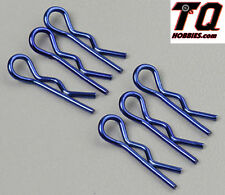 Associated 1736 Body Clips Metallic Blue Short (6) SC10 RC10B4/4 RC10T4 TC6 SC10
