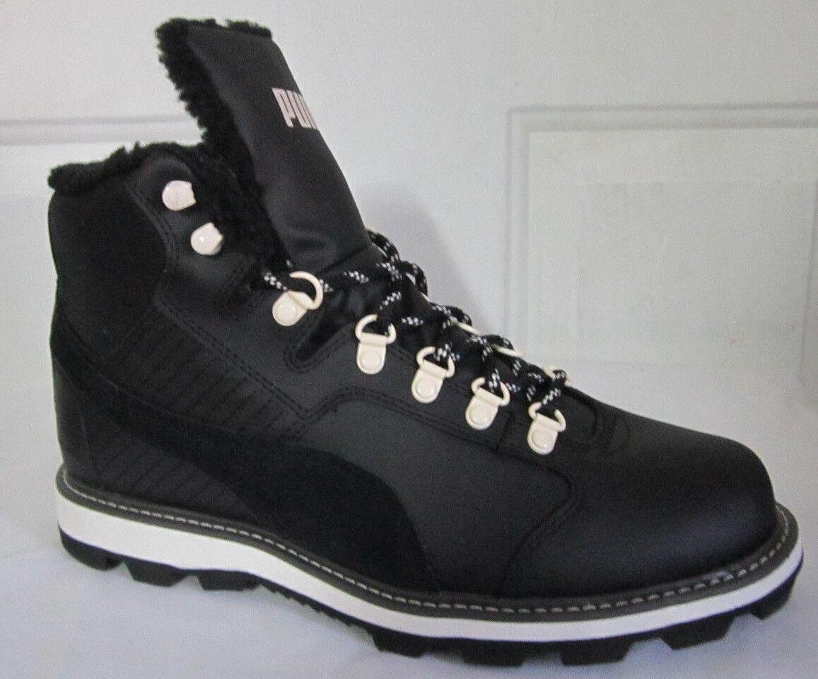Puma Tatau Fur Boot Black  Men Walking Shoes 8