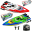 Remote-Control-Twin-Motor-High-Speed-Boat-RC-Racing-Outdoor-Toys-With-Radio thumbnail 1
