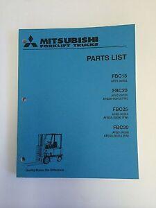 mitsubshi forklift parts manual fbc15, fbc20, fbc25, fbc30 ebayimage is  loading mitsubshi forklift