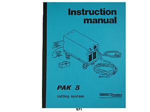 Thermal Dynamics PAK 10 Plasma Cutter Instruction /& Servicing  Manual *975