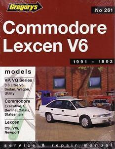 gregorys repair manual holden commodore vp vq lexcen v6 ebay rh ebay com vs Commodore VR Commodore
