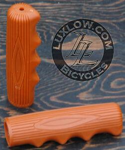 Brown-Vintage-Schwinn-Stingray-Type-Bike-Grips-Lowrider-Muscle-Bicycle-Cruiser